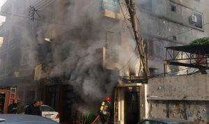 احتراق محل في طرابلس