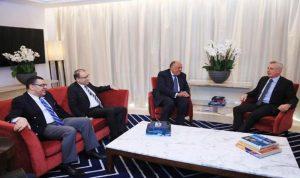 فرنجية عرض التطورات مع وزير الخارجية المصرية
