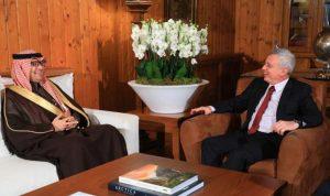 فرنجية استقبل السفير السعودي