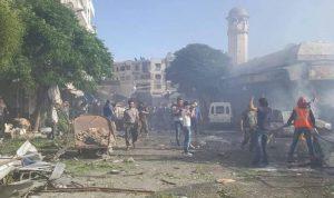 """بالصور: تفجير انتحاري يستهدف """"النصرة"""" في إدلب"""