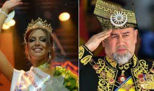 بعد زواجه من ملكة جمال روسية… سلطان ماليزيا يتنحّى!