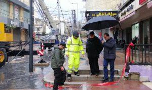 رئيس بلدية صيدا تفقد أضرار العاصفة