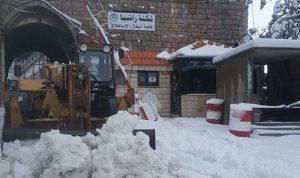 الجرافات تعمل على فتح طريق راشيا شبعا