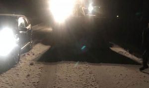 الثلوج تقطع طرقا في راشيا والجرافات تعمل على فتحها