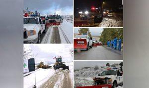 الثلوج غطت قرى وبلدات راشيا والبقاع الغربي