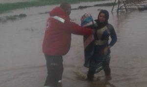 """أعمال إغاثة لـ """"الصليب الأحمر"""" في سهل عكار"""