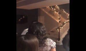 بالفيديو: خانها… وهكذا انتقمت منه في عيد ميلادها!
