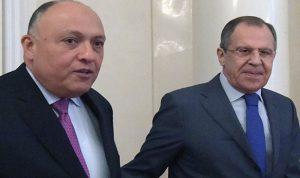 أوضاع الشرق الأوسط بين وزيري خارجية روسيا ومصر
