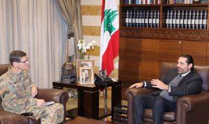 الحريري بحث وقائد القيادة المركزية الأميركية المساعدات العسكرية