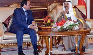 حل أزمات المنطقة بين السيسي وأمير الكويت