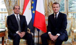 السيسي وماكرون بحثا هاتفيًا الأزمة الليبية