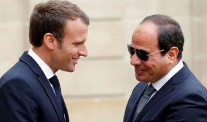 السيسي يبحث أزمة ليبيا مع ماكرون