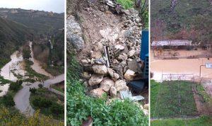 في صور: شفط المياه من داخل المنازل