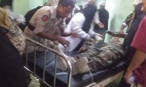 """بالصور: قتلى وجرحى من الجيش اليمني بـ""""درون"""" حوثية"""