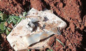 بالصور: العثور على بقايا صاروخ في زحلة