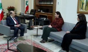 """عون: نشدد على اهمية التعاون بين لبنان و""""الاسكوا"""""""