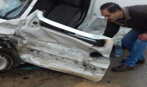 جريح اثر حادث سير في نيحا (صور)