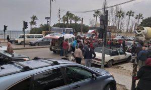 إصابة شابين بحادث سير في صيدا