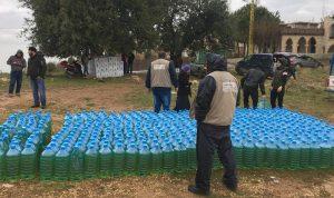مساعدات لـ 600 عائلة سورية ولبنانية في جرد القيطع عكار
