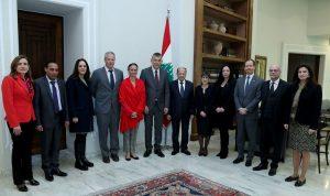 عون: نتطلعلتعزيز التعاون مع المنظمات التابعة للامم المتحدة
