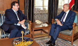 بري بحث مع فوشيه في المستجدات اللبنانية