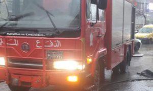 حريق في محل للألبسة في طرابلس