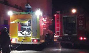 حريق غرفة لتخزين المستندات في مستشفى شتورة