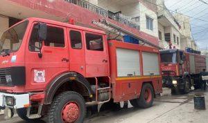 بالصور: حريق داخل شقة سكنية في المرج