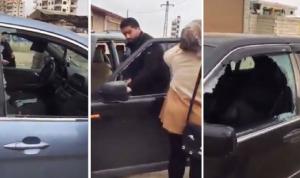 بالفيديو: تحطيم سيارات لبنانيين في دمشق!