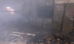 حريق داخل ڤيلا في الصرفند