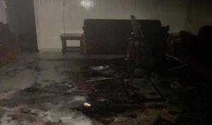 حريق داخل منزل في مجدل عنجر