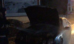 إخماد حريق داخل سيارة في كسروان