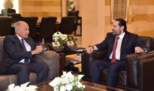 أوضاع لبنان والمنطقة بين الحريري وابو الغيط
