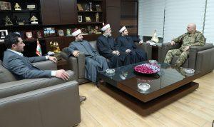 قائد الجيش التقى مفتي صور