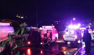 إصابة 11 شخصا في حريق بالقلمون