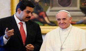 رسالة من مادورو إلى البابا فرنسيس