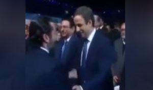 بالفيديو: حفاوة لافتة من الحريري تجاه معوض