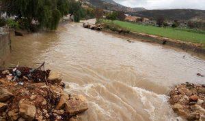 فيضان الانهار في النبطية واقليم التفاح