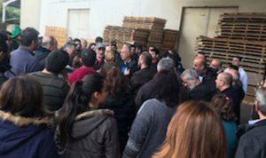 """إعتصام لعمال معمل """"بيوري بلاست"""" في جبيل"""
