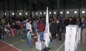 توزيع 500 حصة غذائية على النازحين السوريين في الشوف