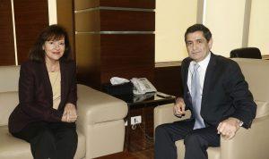 السفيرة الأميركية لقيومجيان: مستعدون للتعاون مع الوزارة ودعمها