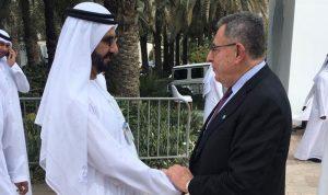 السنيورة بحث وحاكم دبي بالأوضاع العامة