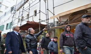 قمرالدين تفقد أشغال سوق العطارين في طرابلس