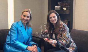 لقاء مميز بين خيرالله الصفدي وسفيرة سويسرا