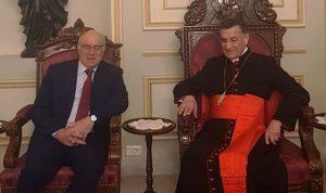 وزير العمل وسفير فرسان مالطا في بكركي