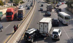 حادث سير على أوتوستراد نهر إبراهيم