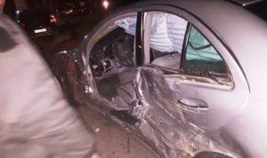 جريحان بحادث سير على طريق عام الدوسة- عكار