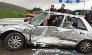 جريحان بحادث سير في القليعة-مرجعيون