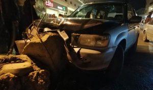 جريحان في حادث سير على طريق عام بدنايل