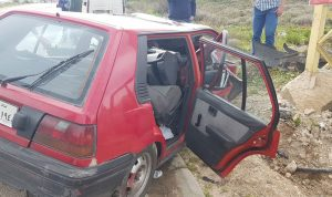 جريحة بحادث سير على طريق صيدا-جزين